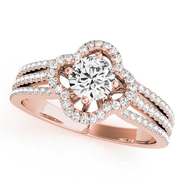14k-rose-gold-multirow-round-shape-diamond-engagement-ring-84903-14K-Rose-Gold