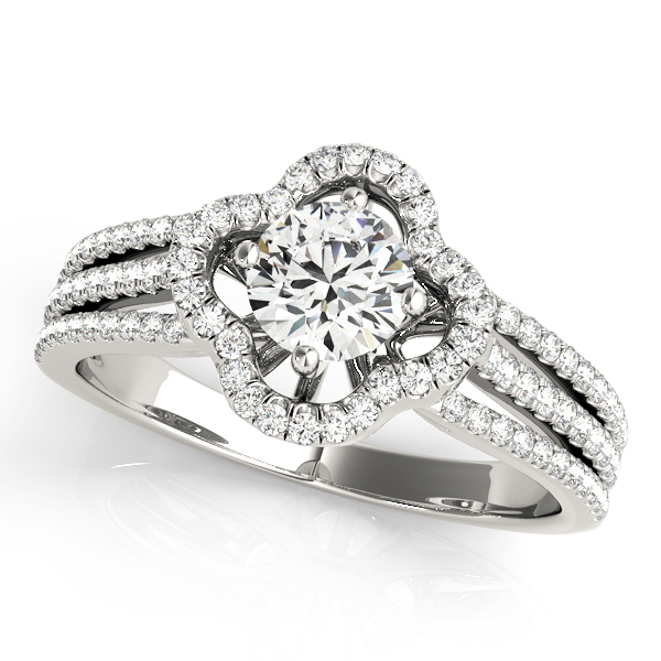 14k-white-gold-multirow-round-shape-diamond-engagement-ring-84903-14K-White-Gold