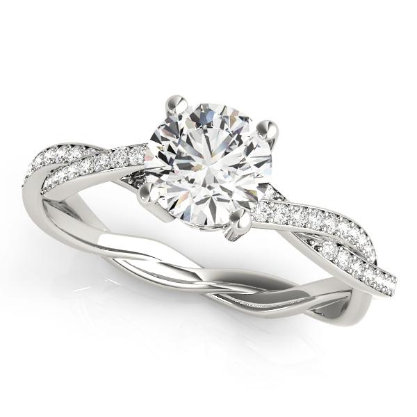 14k-white-gold-multirow-round-shape-diamond-engagement-ring-84905-14K-White-Gold
