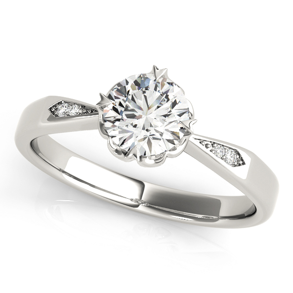 14k-white-gold-single-row-round-shape-diamond-engagement-ring-84906-14K-White-Gold