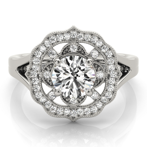 platinum-halo-round-shape-diamond-engagement-ring-84911-Platinum