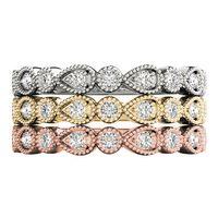14K White Gold Bezel Set Diamond Wedding Ring