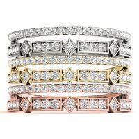 14K White Gold Stackable Diamond Wedding Ring