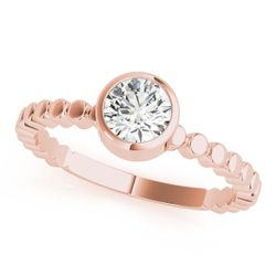 14K Rose Gold Solitaire Round Shape Diamond Engagement Ring