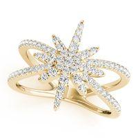 14K Yellow Gold Open Concept Diamond Fashion Ring