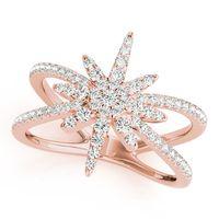 14K Rose Gold Open Concept Diamond Fashion Ring