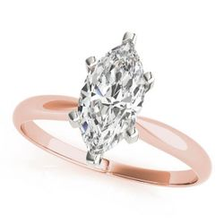 14K Rose Gold Solitaire Marquise Shape Diamond Engagement Ring