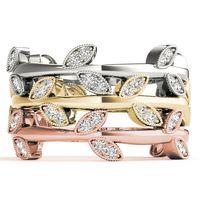 14K White Gold Designer Diamond Fashion Ring
