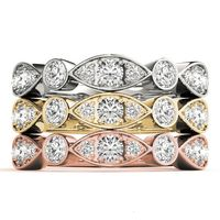 14K White Gold Stackable Wedding Ring