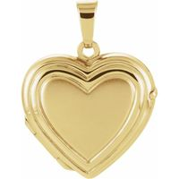 14K Yellow 17.9x17 mm Heart Locket