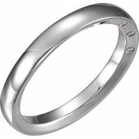 14K White 4 mm .03 CTW Diamond Accented Band