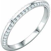 Platinum 1/5 CTW Diamond Band