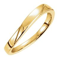 14K Yellow 3 mm Stackable Ring