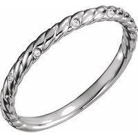 Platinum .04 CTW Diamond Rope Band