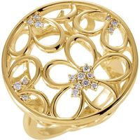 1/6 CTW Floral-Inspired Diamond Ring