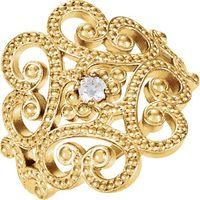 14K Yellow Granulated Design Ring