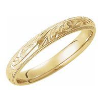 14K Yellow Comfort-Fit Band