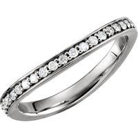 Platinum 1/3 CTW Diamond Stackable Ring
