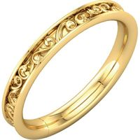14K Yellow 2.8 mm Sculptural-Inspired Band