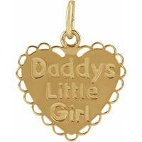 14K Yellow Daddy's Little Girl Pendant