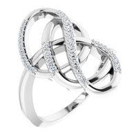 Platinum 1/3 CTW Diamond Ring