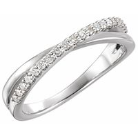 Platinum 1/5 CTW Diamond Criss-Cross Ring