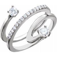 Platinum 1/3 CTW Diamond Freeform Ring