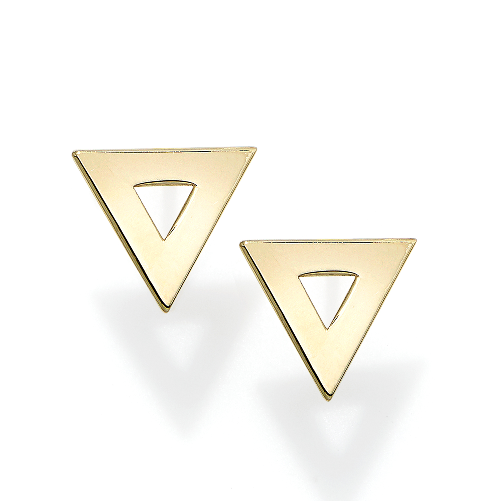 14k-gold-polished-open-triangle-stud-earring-er8800_ring