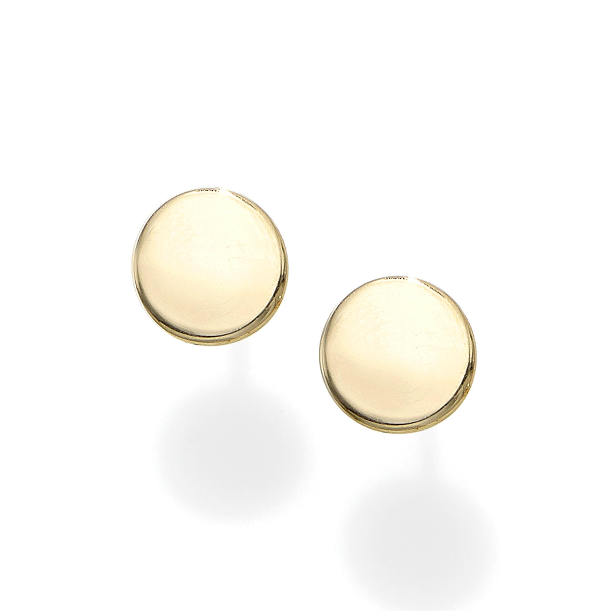 14k-gold-polished-circle-stud-earring-er8802_ring